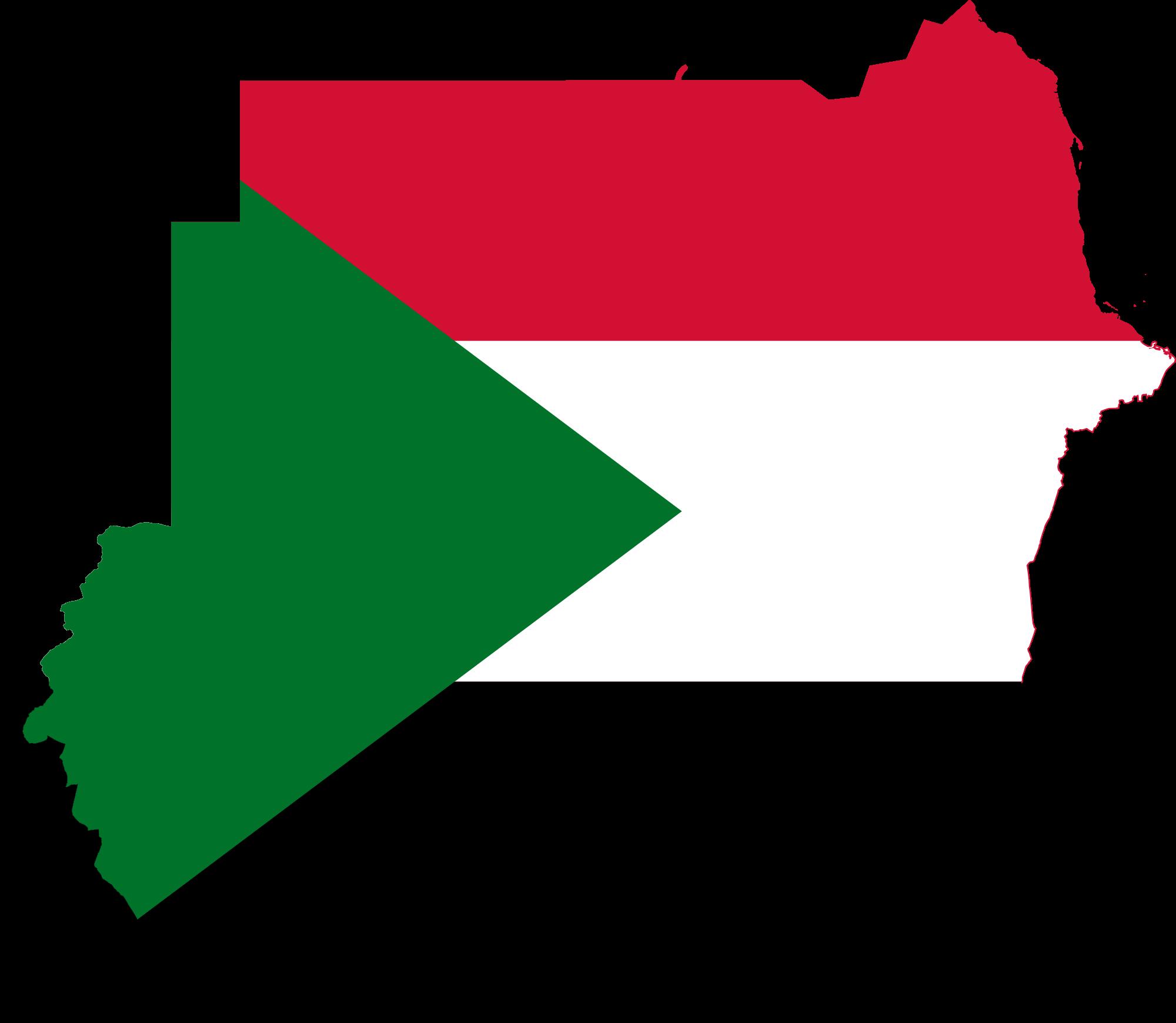 خارطة وعلم السودان