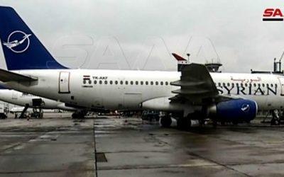 بعد توقف 8 سنوات هبوط اول طائرة مدنية في مطار حلب الدولي