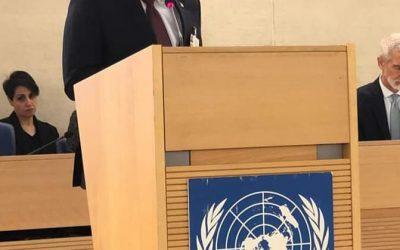 وزير الدولة بالخارجية يخاطب مجلس حقوق الإنسان