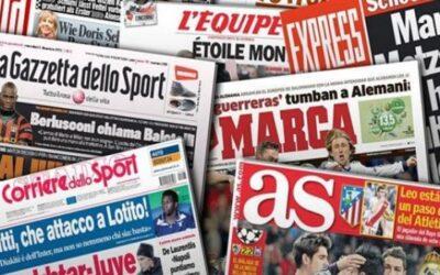 يومك اوروبي:ابرز ماجاء في الصحف الرياضية الاوروبية