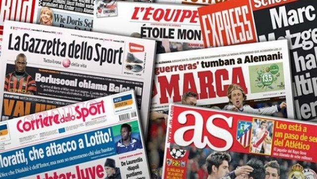 صباحك اوروبي: الصحف الرياضية العالمية