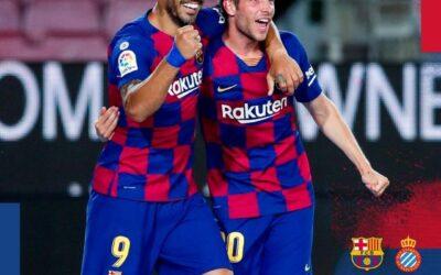 برشلونة يجتاز إسبانيول ويُطرده من جنة الليغا