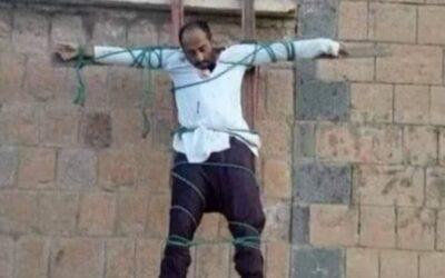 إعدام وصلب طبيب وتفجير مركز صحي باليمن