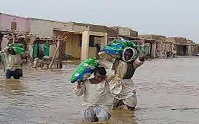 إجتياح مياه فيضان خور بركة لمدينة طوكر