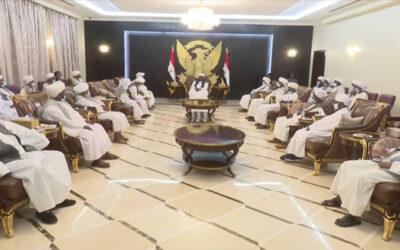 البرهان يلتقي وفد الآلية التنسيقية لعمد قبائل البني عامر