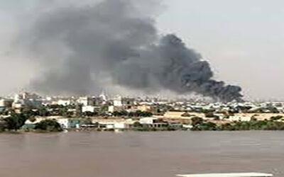 حريق بمصنع العكدابي بمدينة بحري