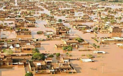 إجلاء منطقة التمانيات شمال بحري نتيجة الفيضانات