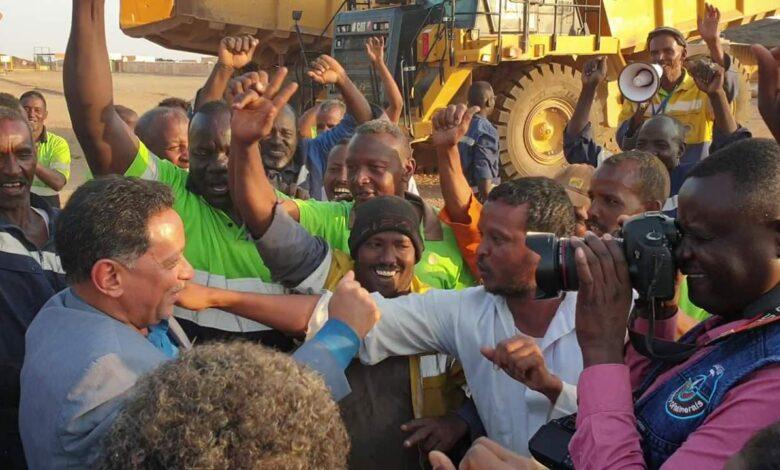رفع إضراب العاملين بشركة أرياب للتعدين بالبحر الاحمر