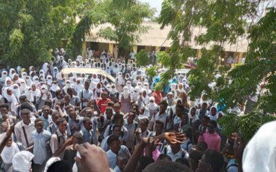 بسبب انعدام الخبز – احتجاجات طلابية في مدينة الفاشر
