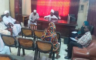 وحدة الشراكة المركزية بالمالية تلتقي الغرفه التجارية بشرق دارفور