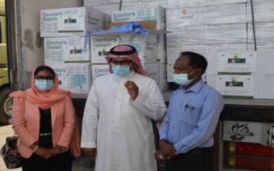 """السفارة السعودية تسلم الامدادت الطبية """"50"""" طن من الأدوية"""