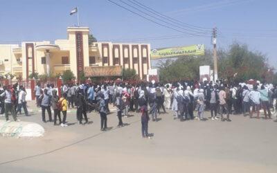 بسبب انعدام الخبز: احتجاجات طلابية في مدينة الفاشر