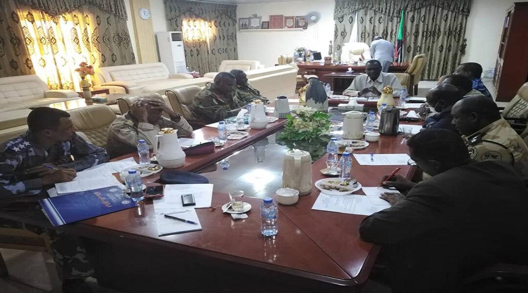 لجنة الأمن بالنيل الأزرق تأمن على أهمية مضاعفة الجهود الأمنية