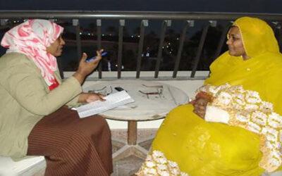 فاطمة احمد ابراهيم وشهادتها عن د. مريم الصادق المهدي