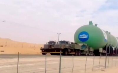 نقل أكبر خزان غاز مسال في العالم من الدمام إلى الرياض