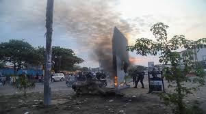 الكونغو: ظهور هيكل معدني غامض في العاصمة وإحراقه من قبل السكان