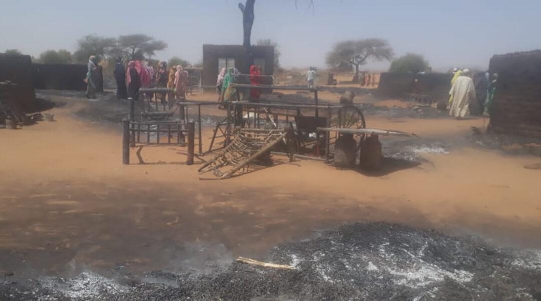 73 مليون جنيه حجم خسائر حريق قرية بشمال دارفور