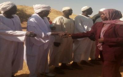مي تؤكد دعم البنى التحتية لبناء قرية حمد بشمال دارفور