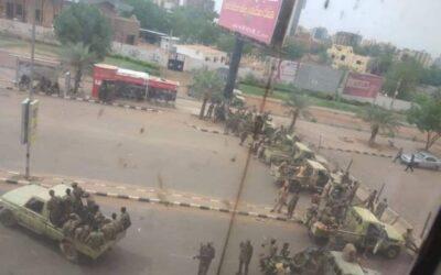 شلل تام فى وسط الخرطوم بسبب الدعوة لتظاهرات 6 أبريل