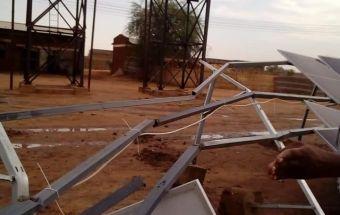 أمطار ورياح تتسبب فى تلف ألواح الطاقة الشمسية بمشروع مياه الضعين