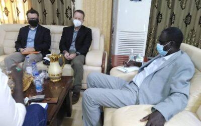 والي النيل الازرق يلتقي بوفد المعونة والوكالة الامريكية للتنمية