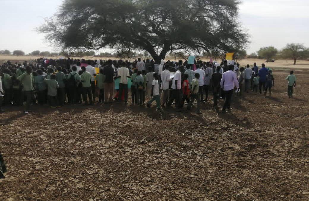 وقفة احتجاجيةلابناء قرية ابوزريقة بشمال دارفور