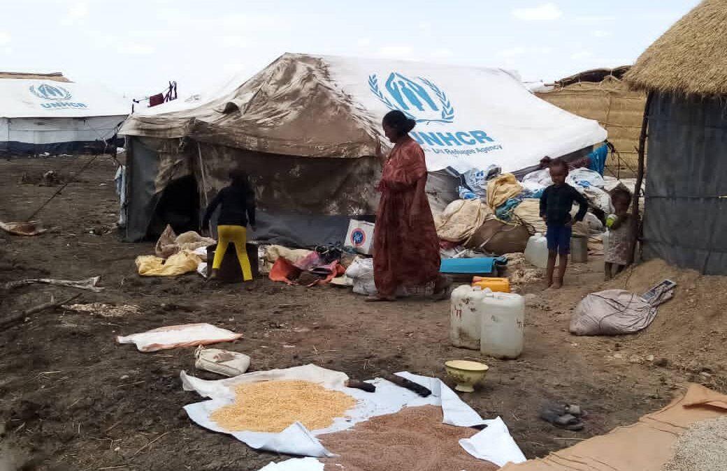 بسبب الامطار :انهيار 5641 منزلا لايواء اللاجئين الاثيوبين بالقضارف