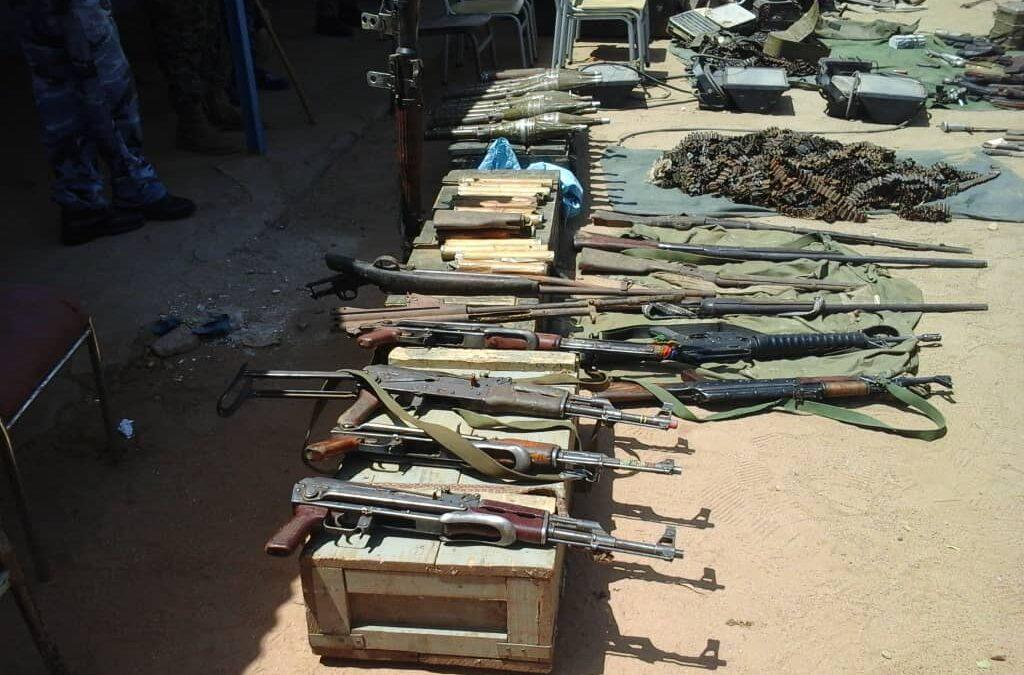 ضبط كميات من الاسلحة ومعتادي الاجرام بكادقلي
