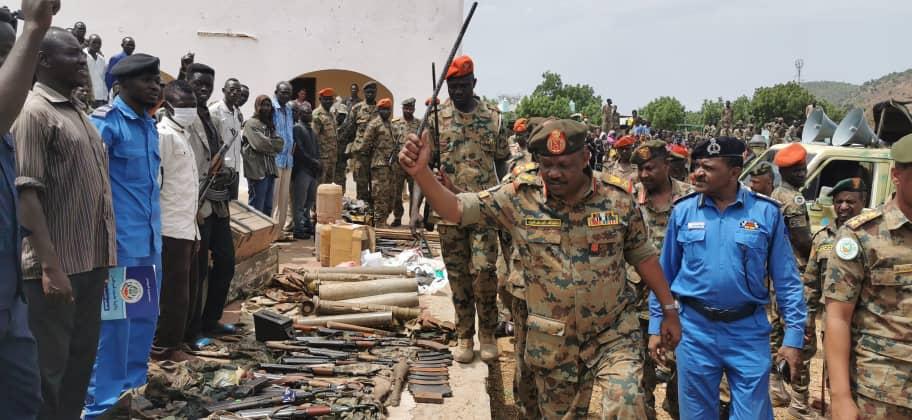 ضبط كميات من الاسلحة والمسروقات واعلان حظر التجوال في كادوقلي