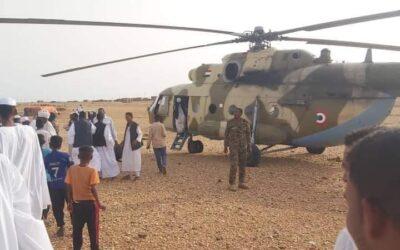 القوات المسلحة تنقذ عريسا وأسرته بهليكوبتر حبسهم السيل بالبطانة لأيام