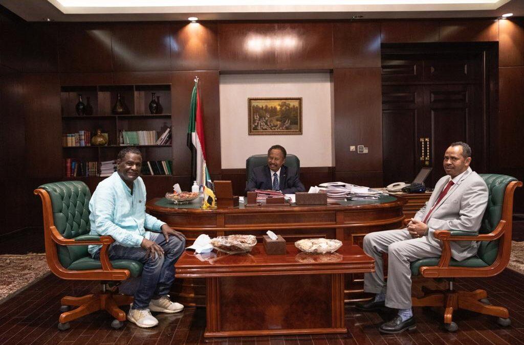 دكتور حمدوك يستقبل المخرج السوداني سعيد حامد بحضور وزير الثقافة