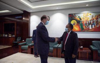 دكتور حمدوك يستقبل رئيس مجموعة البنك الدولي بمجلس الوزراء