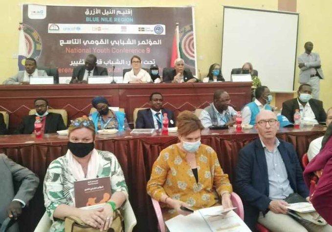حاكم إقليم النيل الأزرق يؤكد دعم حكومته لقضايا وبرامج الشباب